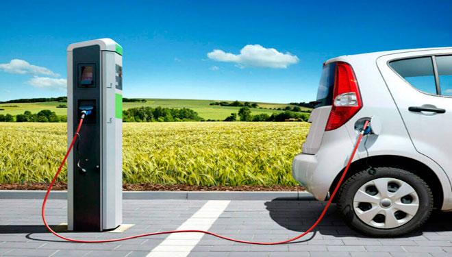 movilidad eléctrica, punto de carga