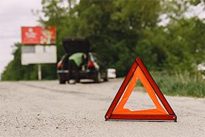 pasos accidente carretera, coche seminuevo